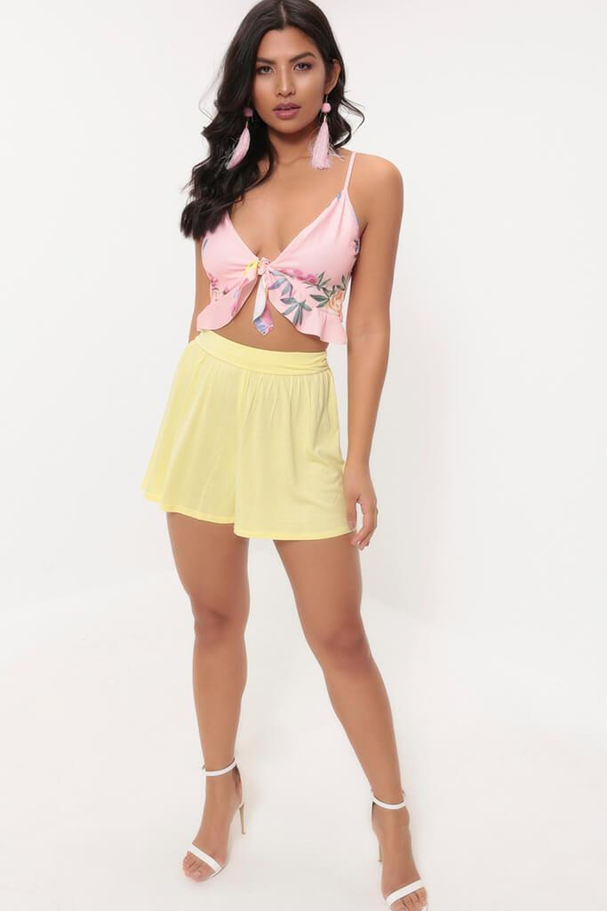 Lemon High Waisted Loose Fit Shorts
