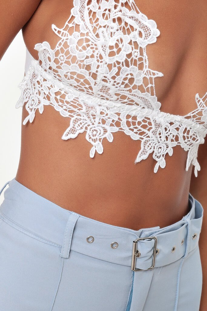 White Crochet Lace Bralet