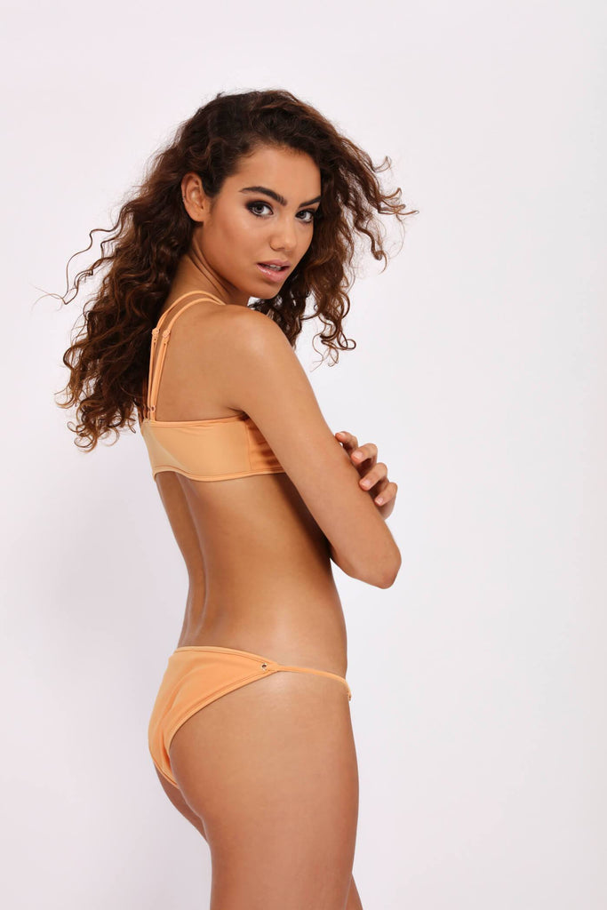 Honeydew Bikini Bottoms With Eyelets