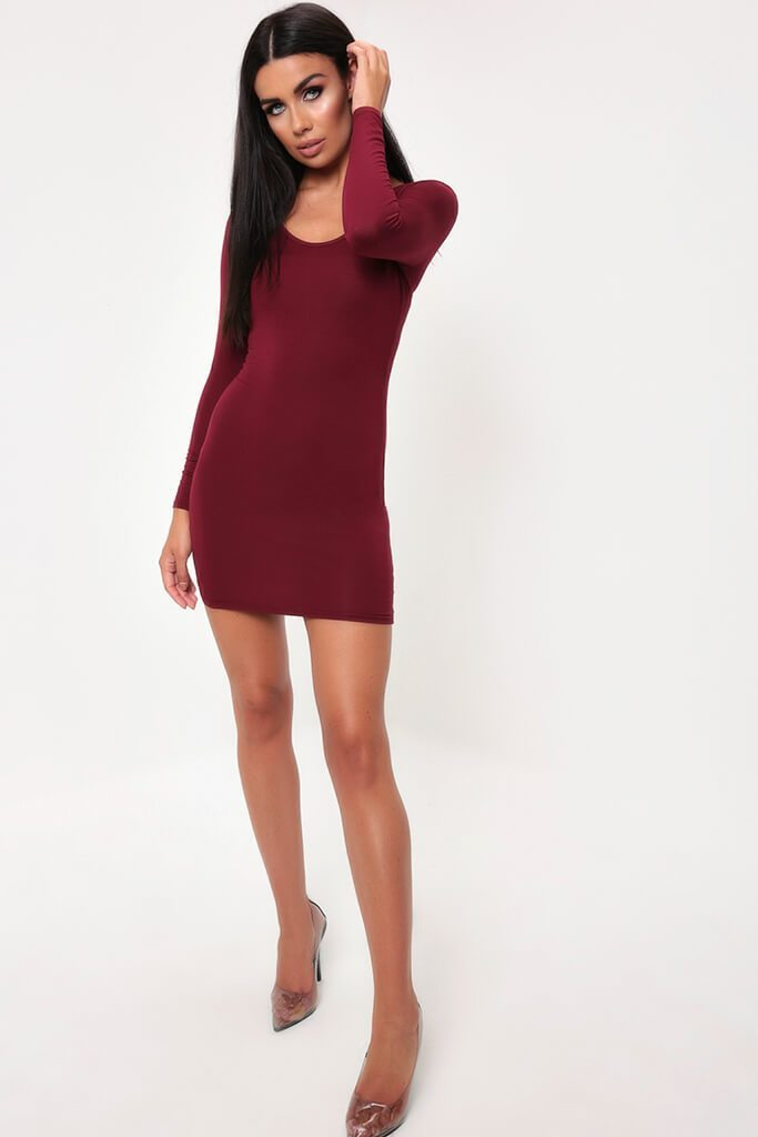 Berry Basic Bodycon Dress