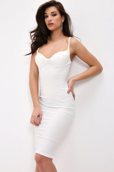 Cream Soft Touch Scoop Back Bodycon Mini Dress - 10 / WHITE I Saw It First oPAD1msH
