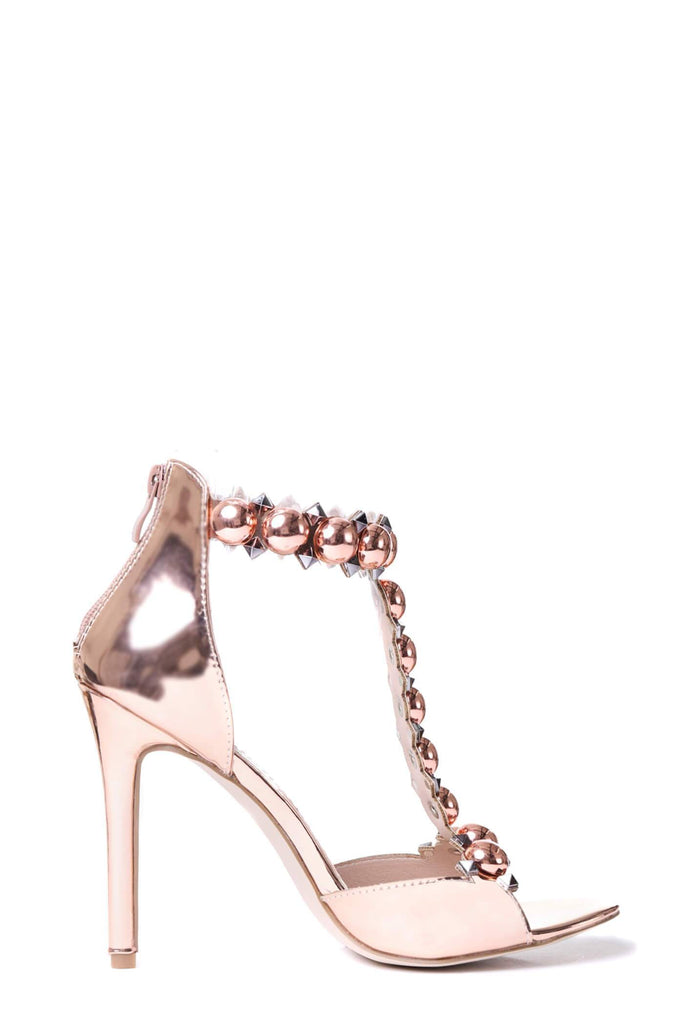 Rose Gold Ball & Stud Heels
