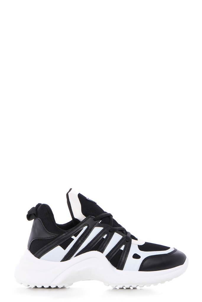 Black/White Arched Detail Trainers