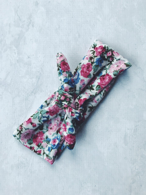 headband floral bow tie knot cotton pin up girl baby australia cute gift