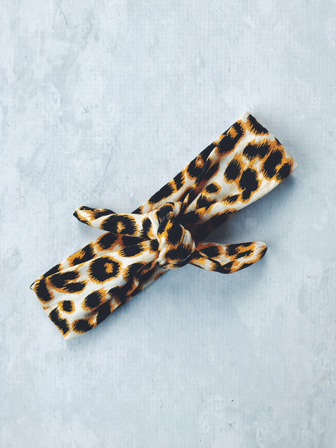 headband adjustable adult leopard knot cotton pin up girl baby australia cute gift