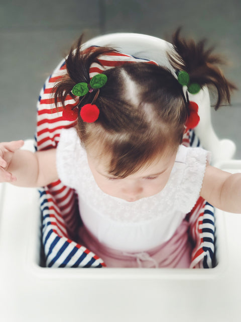 baby girl hair clip cherry 3d cute gift