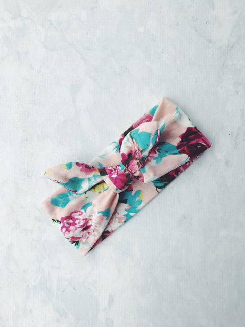 headband floral tie knot cotton pin up girl baby australia cute gift