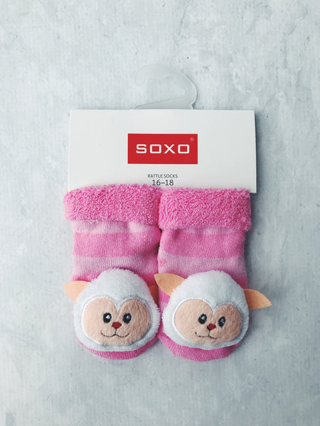 Soxo Australia rattle socks baby matching character cute gift