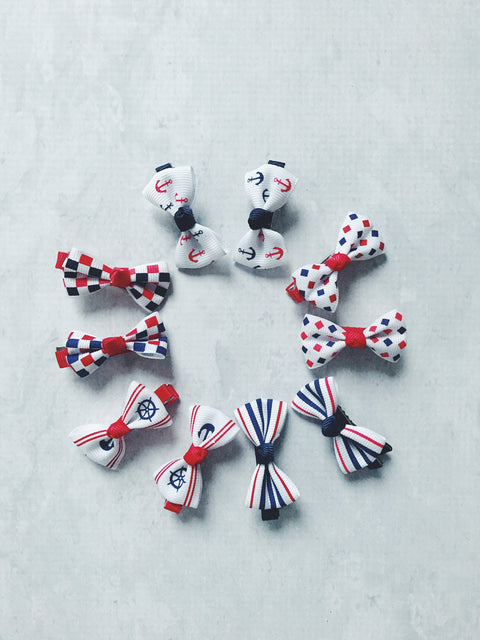 nautical navy red white hair clips baby cheap australia