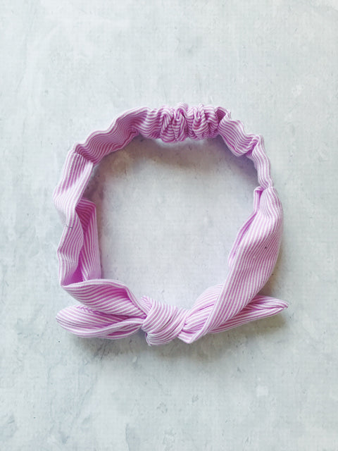 headband pink stripe tie knot cotton pin up girl baby australia cute gift