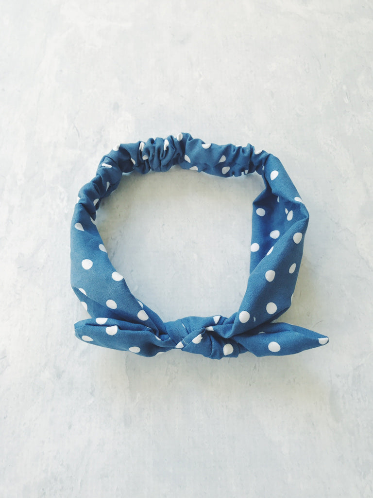 headband polka dot tie knot cotton pin up girl baby australia cute gift