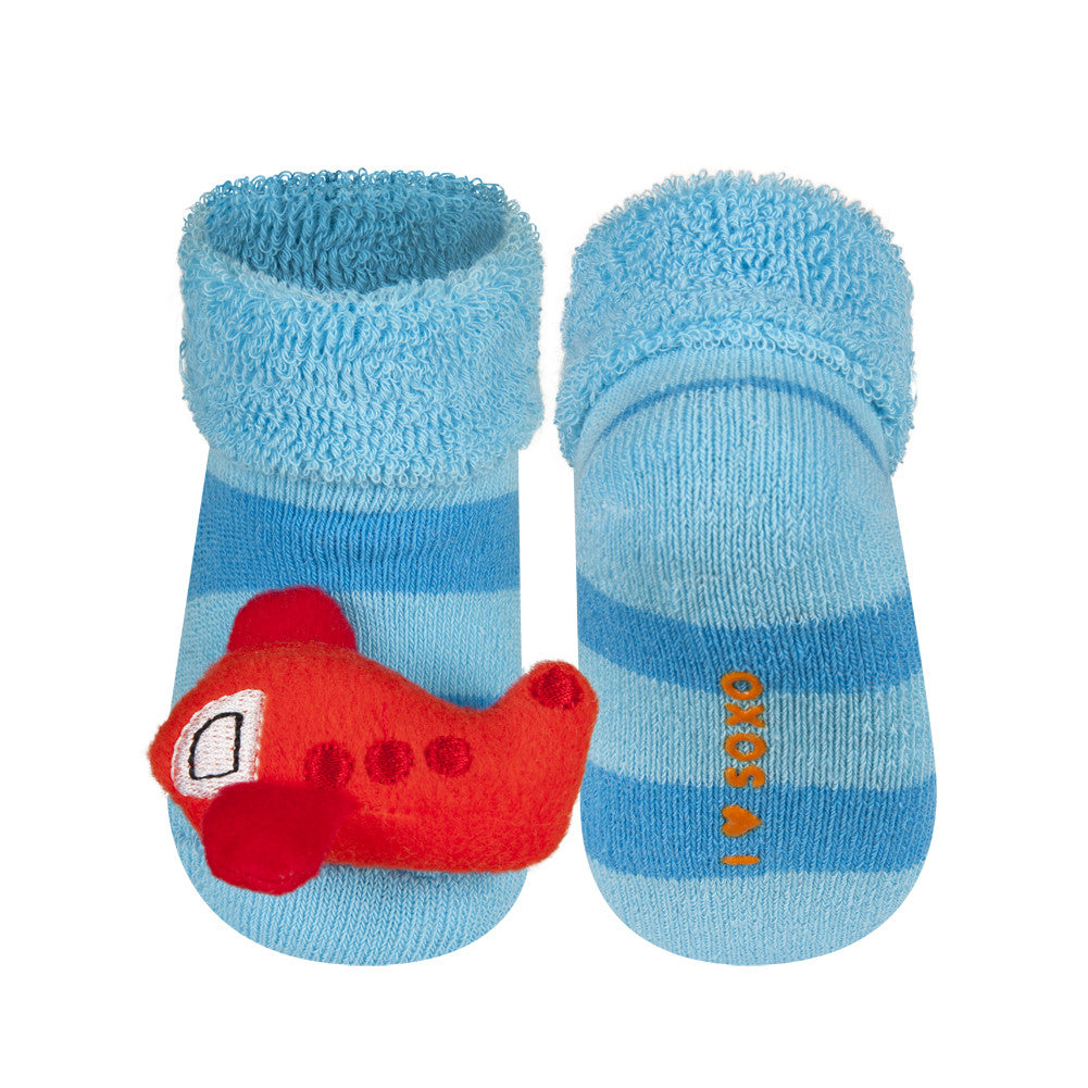 Rattle Socks Soxo Small Plane Mama Fashion Me