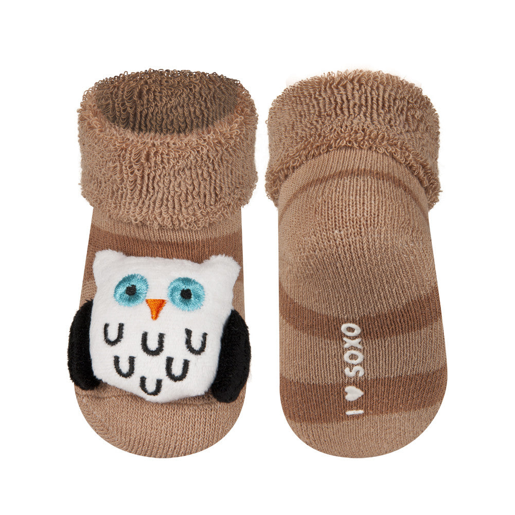 Rattle Socks Soxo Small Owl Mama Fashion Me