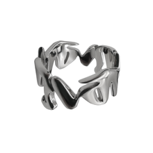 GRAFFITI .925 STERLING SILVER RING