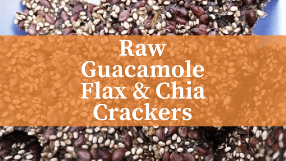 Raw Guacamole Flax & Chia Crackers
