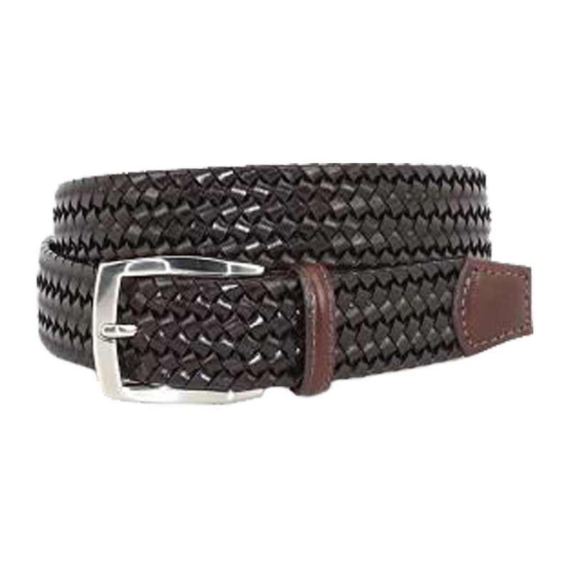 Italian Woven Stretch Leather Belt