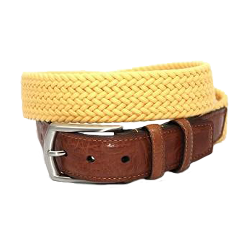 Italian Woven Cotton Elastic Belt