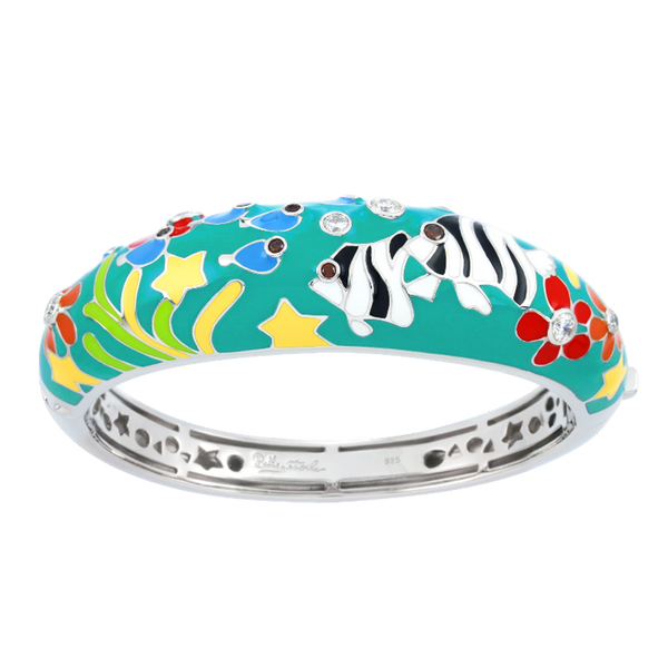 Anglefish Teal Bangle