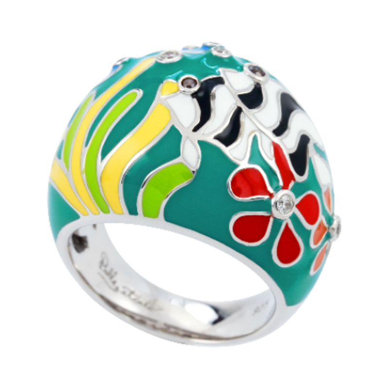 Angelfish Teal Ring