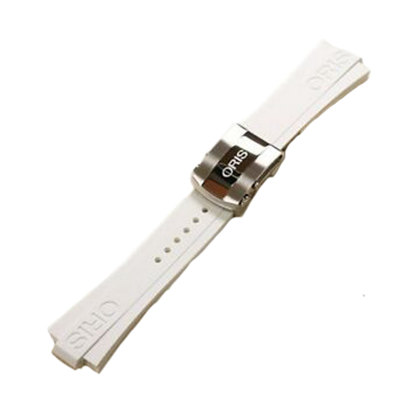 Aquis Rubber Strap - White 26mm