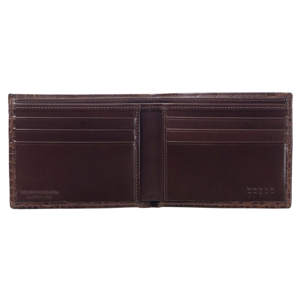 BI-FOLD WALLET CHOCOLATE ALLIG