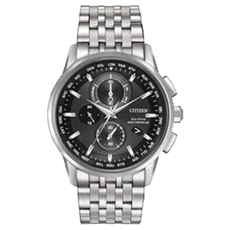 CITIZENS MEN ECO WR100 SS BRAC BLCK