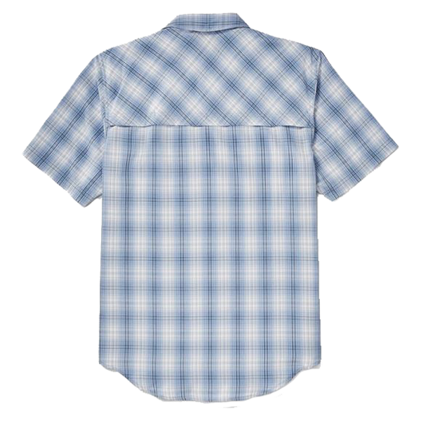 Twin Lakes Short Sleeve Sport Shirt Blue Plaid