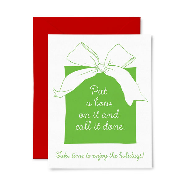 Bow | Holiday | Letterpress Greeting Card