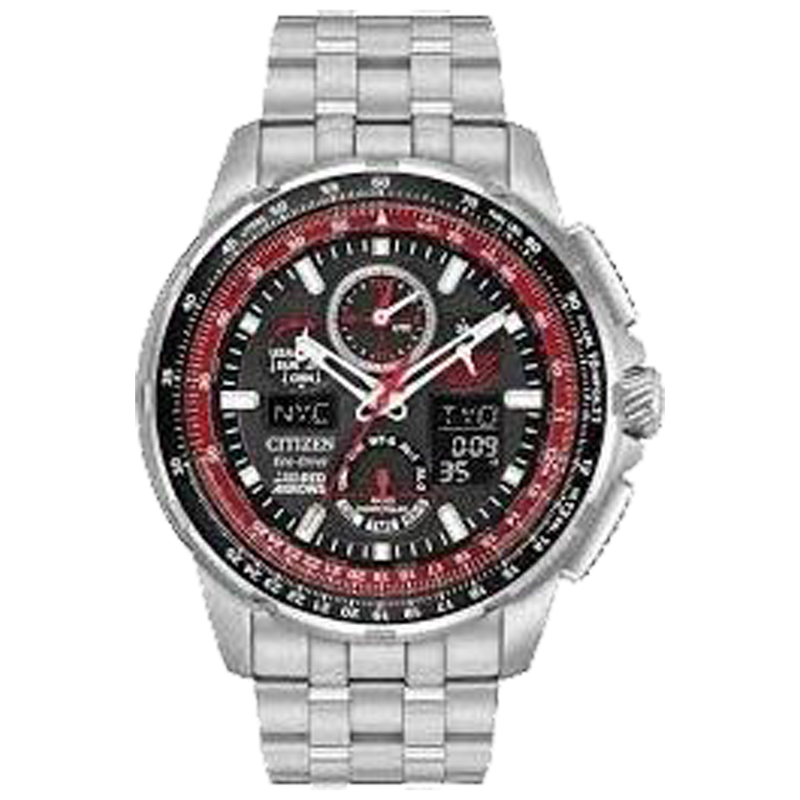 CITIZEN MEN ECO WR200 SSB BRAC BLCHK