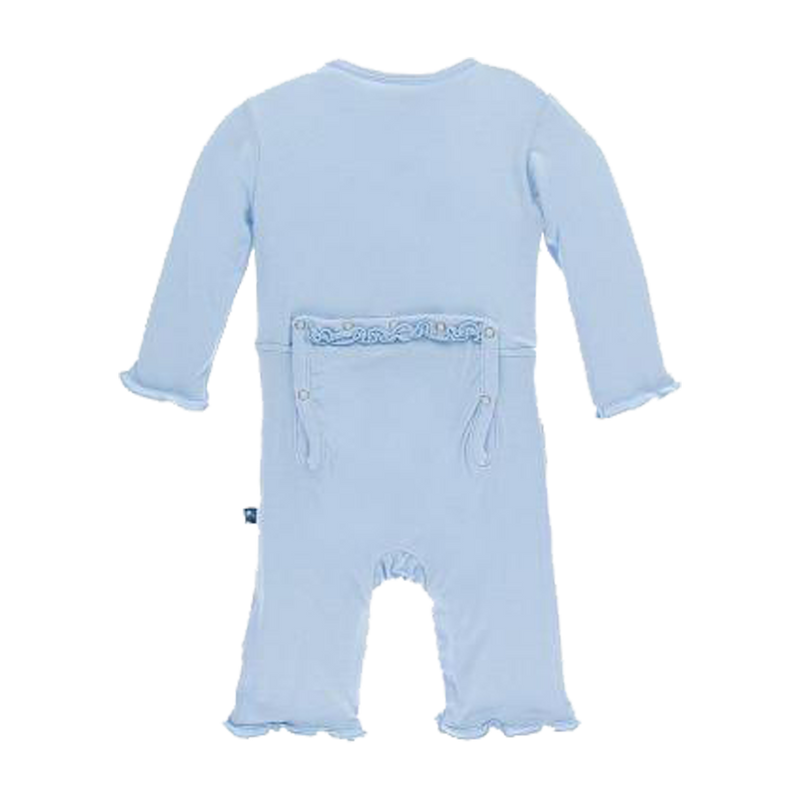 Basic Muffin Ruffle Coverall with Snaps