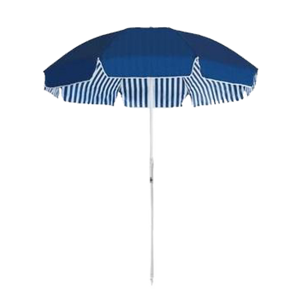 FAMILY BEACH UMBRELLA - NAVY STRIPE