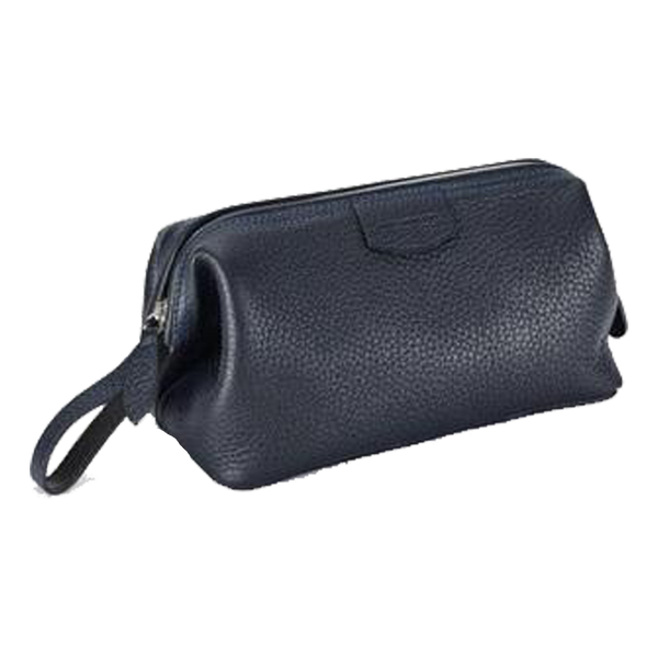 Gentleman's Wash Bag Nappa Blue