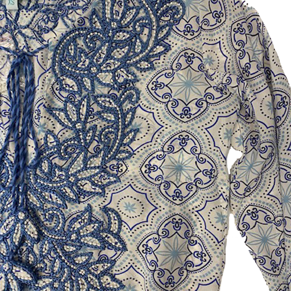 Embroidered Blue Blouse