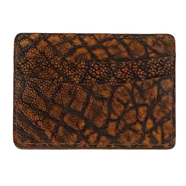 ID/Card Case Genuine Elephant Cognac