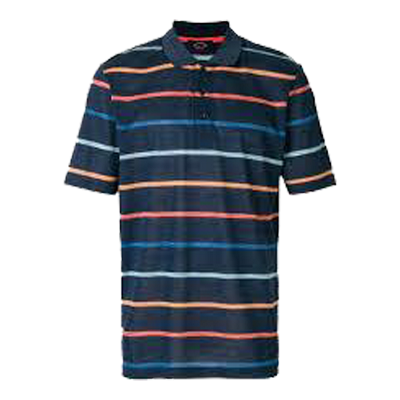 Knitted Striped Polo