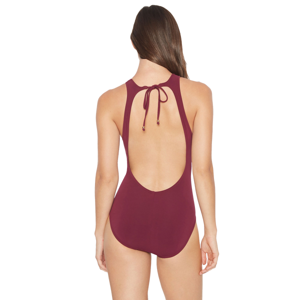 Luca One Piece High Neck Keyhole