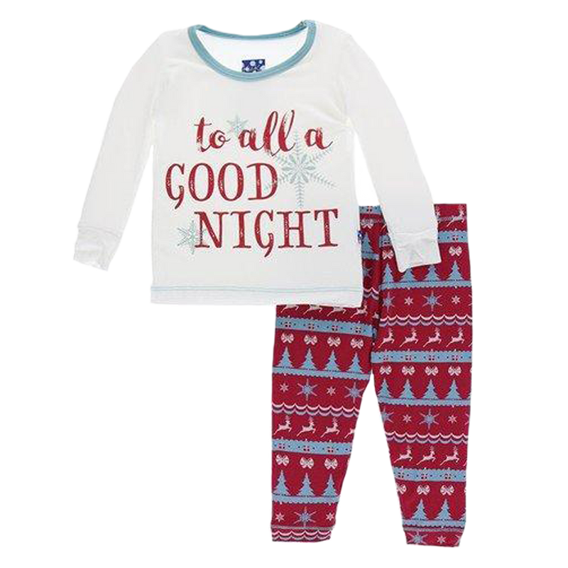 Nordic Print Long Sleeve Pajama Set