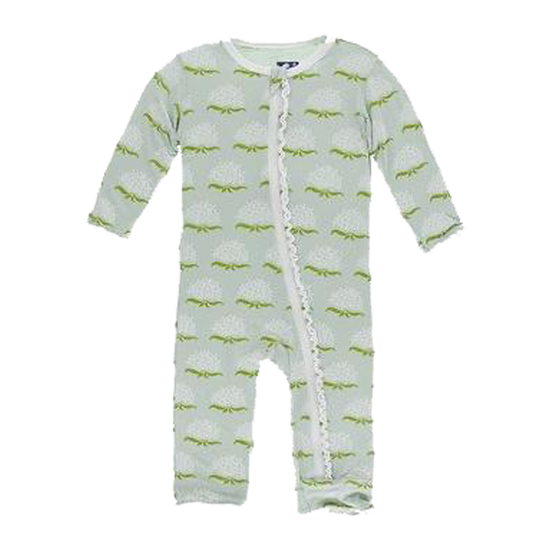 Ruffle Coverall with Zipper