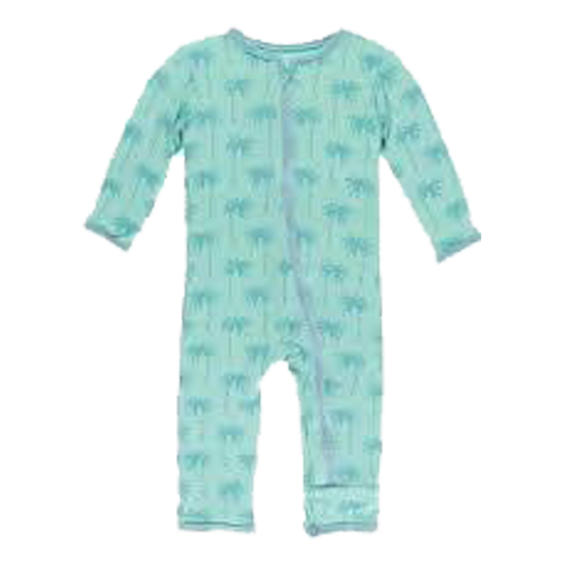 Print Coverall with Zipper