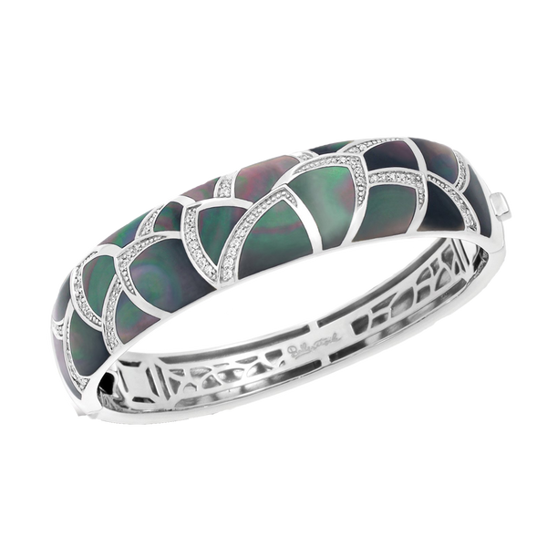 Sirena Mother of Pearl Black Bangle