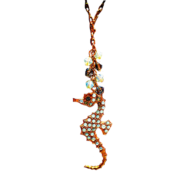 Gold Seahorse Necklace