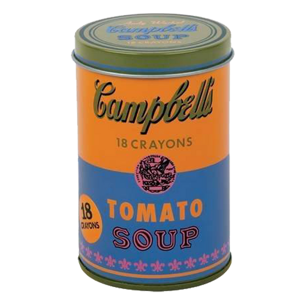 Andy Warhol Orange Soup Can Crayons