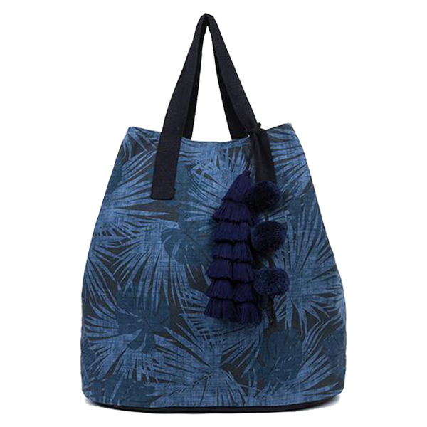 JADEtribe Palm Pattern Tote Bag