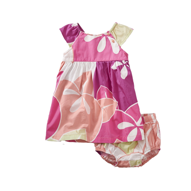 Larger Floral Flutter Sleve Baby Dress