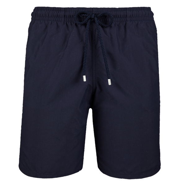 SOLID LONG CUT SWIM SHORTS