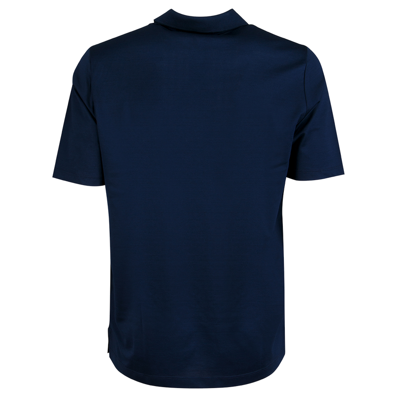 Knitted Polo Solid Navy