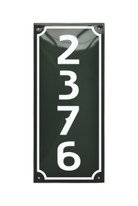 House Numbers placas esmaltadas