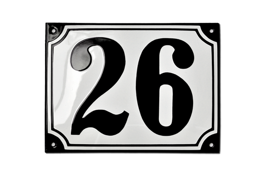 highlander in stock white and black house number plaque 10 - 30