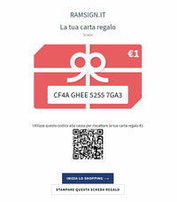 CARTA REGALO - RAMSIGN.IT