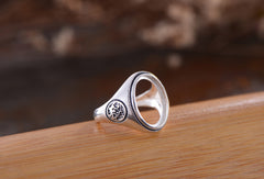 12x16mm Oval Ring Blank Adjustable Thai Sterling Silver Ring Base (R653B)